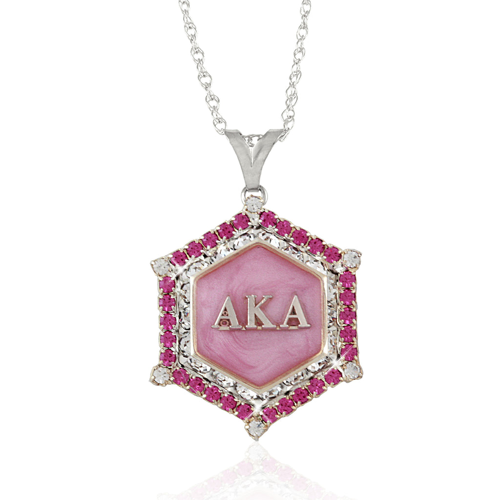 AKA Swarovski® Silver 'Pretty in Pink' Marbella Necklace