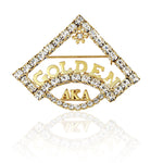 "AKA Swarovski® Golden Soror ""Regal"" Pin"