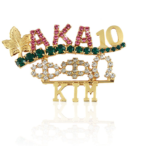 "AKA Swarovski® Custom ""Magnificent"" Name Pin"