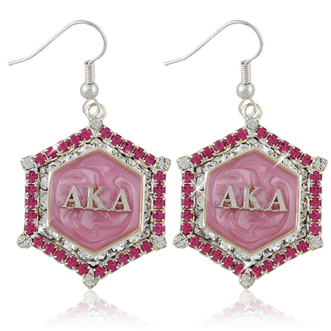 "AKA Swarovski® ""Pretty in Pink"" Marbella Silver Earrings"