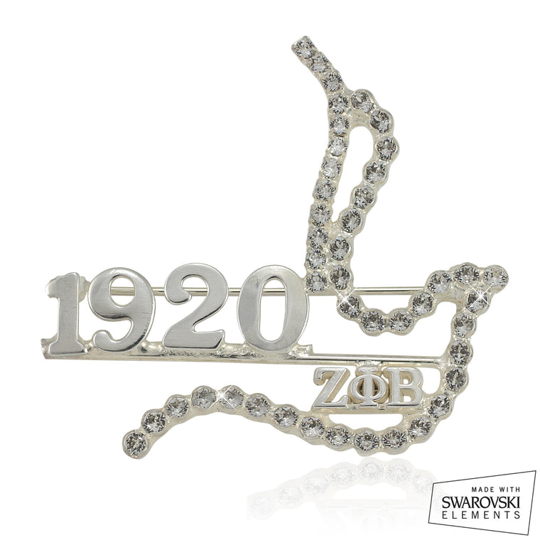 Zeta Crystal Luxury 1920 Dove Pin