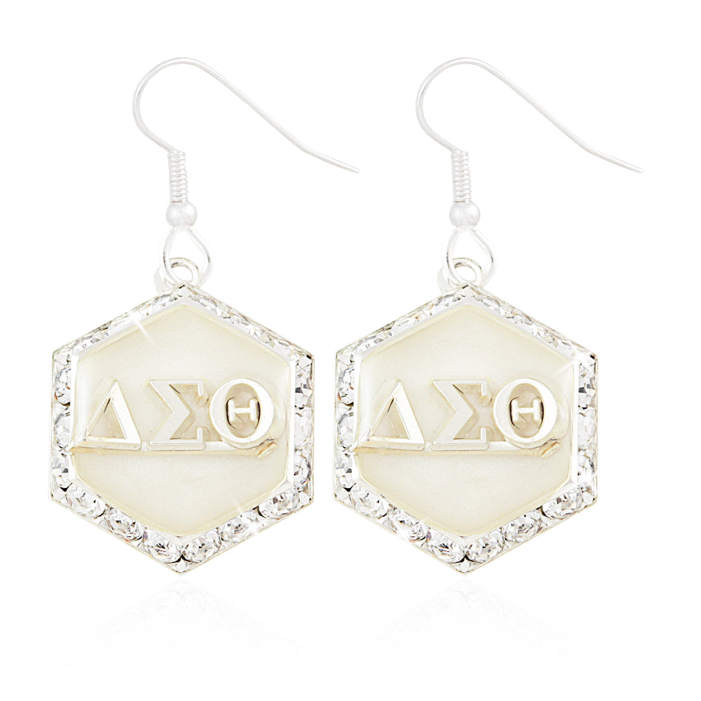 "DST Swarovski® ""Starbella"" White and Silver Earrings"