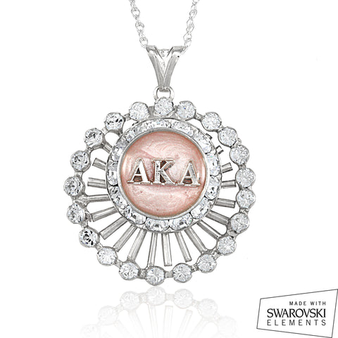"AKA Swarovski® ""Crystalline Perfection"" Silver Necklace"