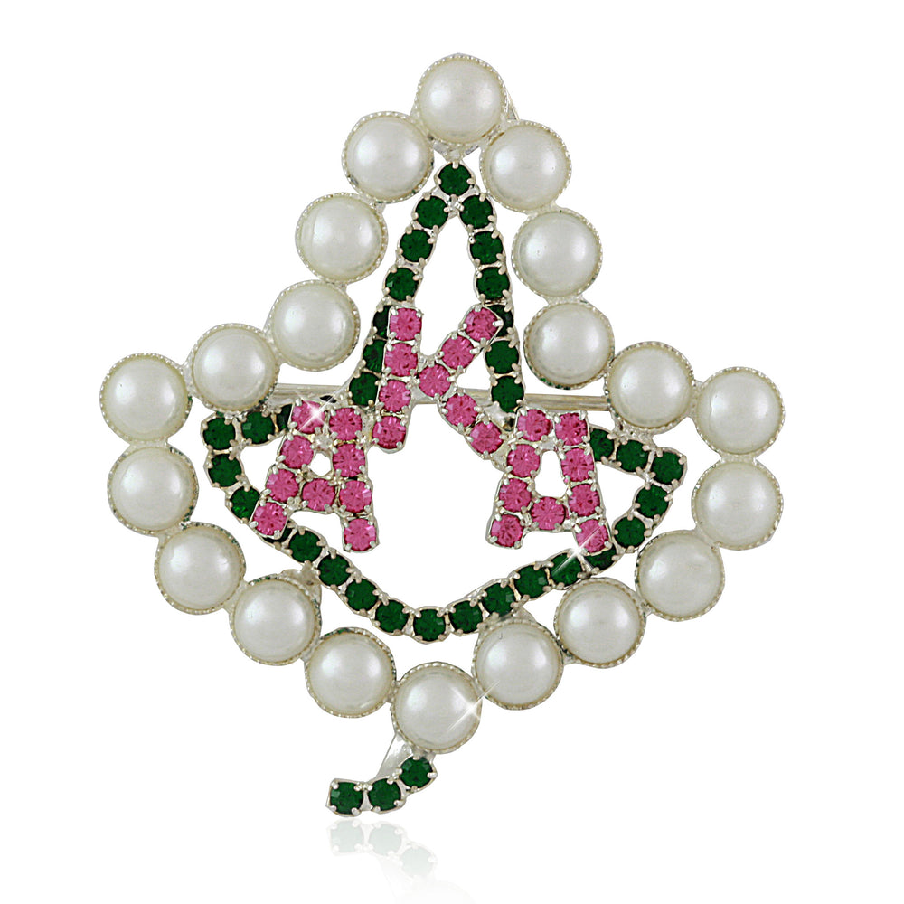 "AKA Swarovski® ""Luminous"" Ivy Silver Pin"