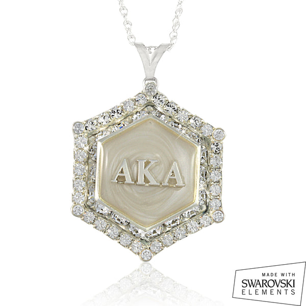 "AKA Swarovski® ""White Decadence"" Silver Marbella Limited Edition Necklace"