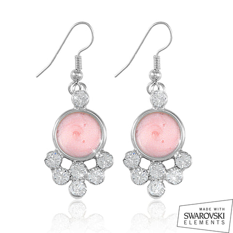 "AKA Swarovski® ""Encrusted"" Silver Earrings"