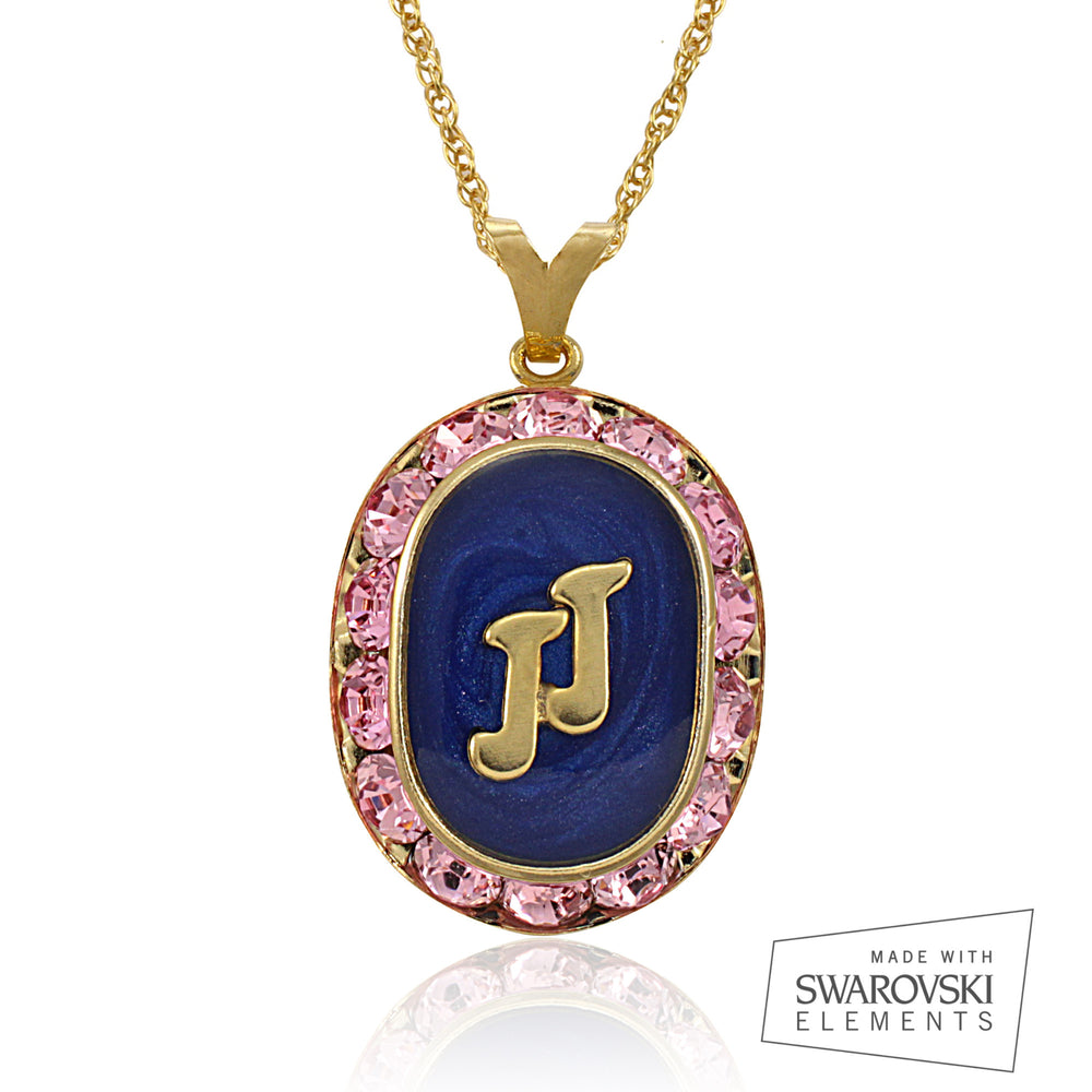 "Jack and Jill Swarovski® ""Perfection"" Gold Crystal Necklace"