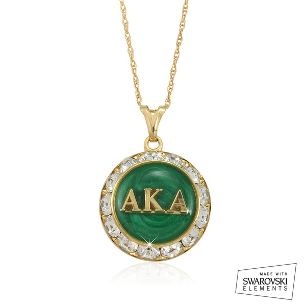 "AKA Swarovski® ""Emerald Stellar"" Necklace"