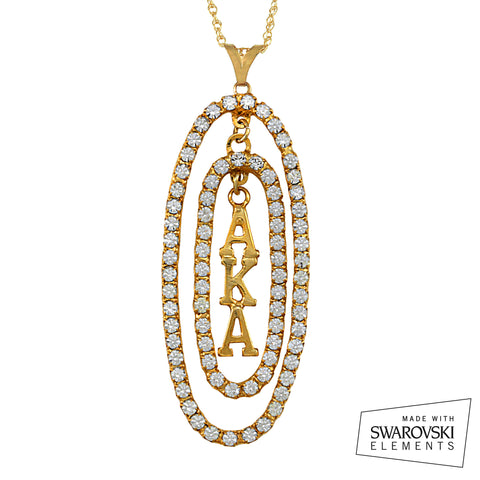 "AKA Swarovski® ""Oval Opulence"" Gold Necklace"