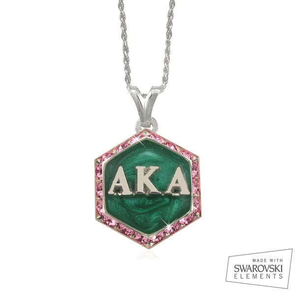 "AKA Swarovski® ""Emerald Swirls"" Starbella Necklace"