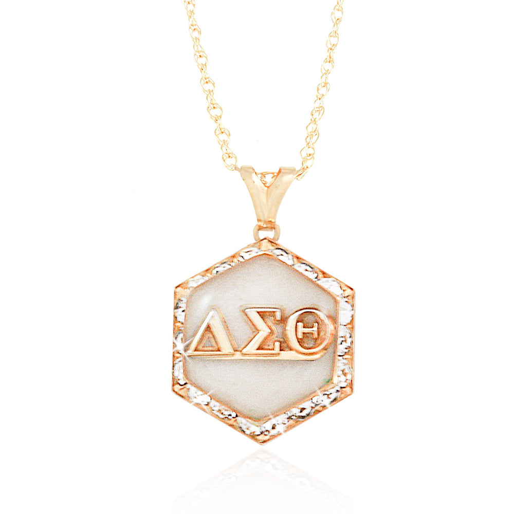 "DST Swarovski® ""Starbella"" White and Gold Necklace"