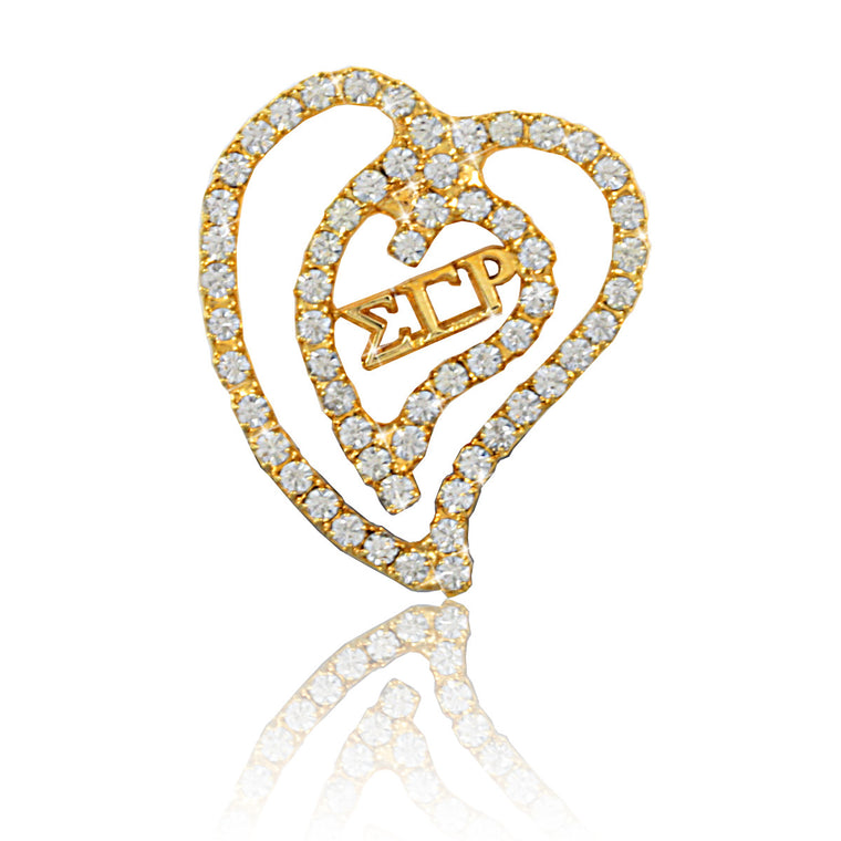 Sigma Gamma Rho Swarovski® 'Floating Heart' Necklace