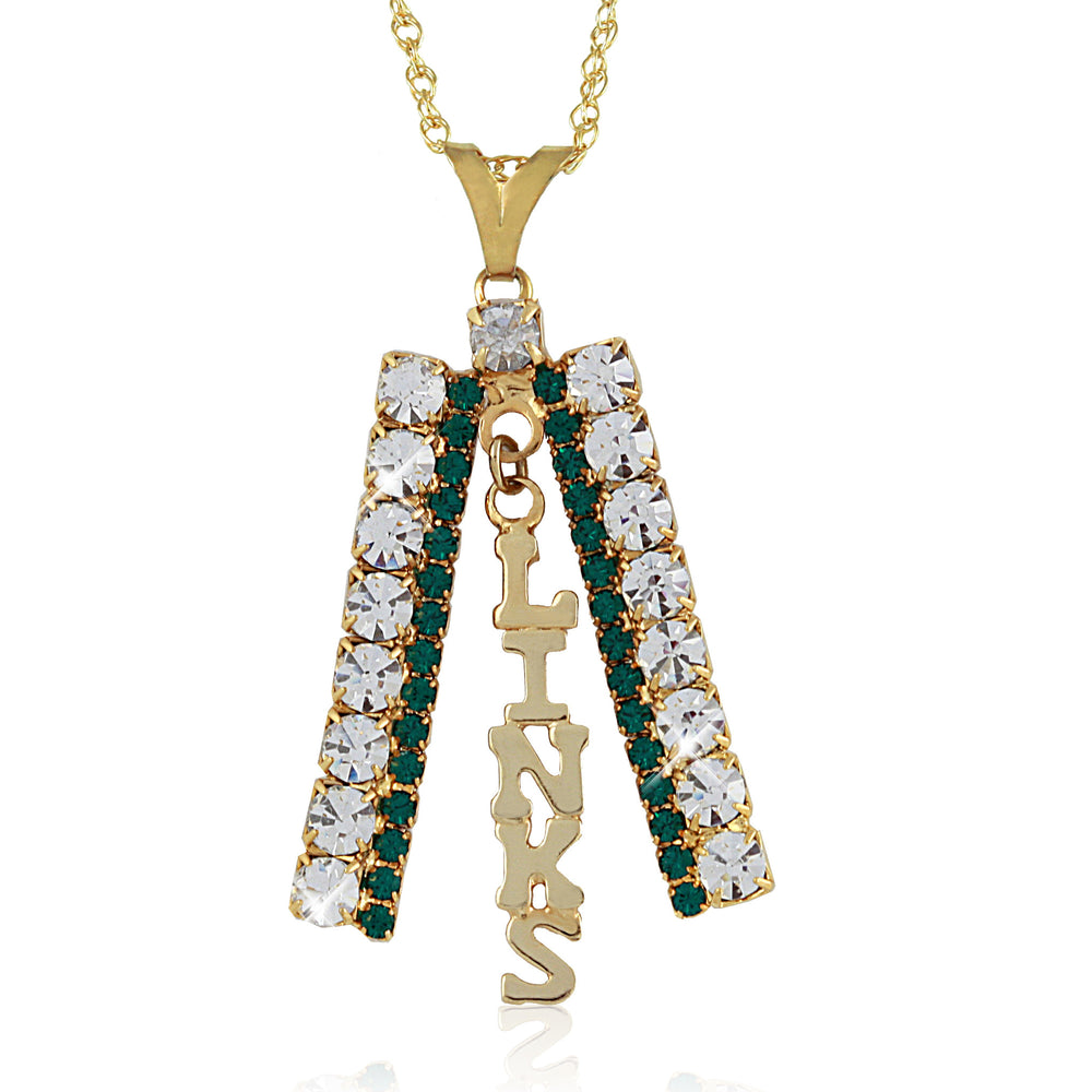 LINKS Swarovski® Gold Studded Necklace