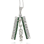 LINKS Swarovski® Silver Studded Necklace