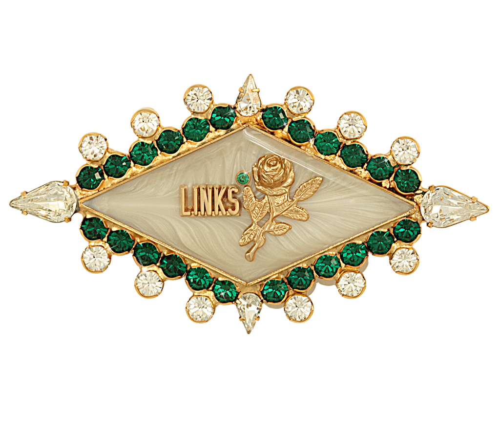 "LINKS Swarovski® Crystal ""Immaculate"" Pin"