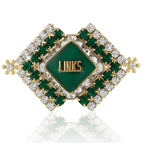 "LINKS Brooch Emerald ""Perfection"" Pin"