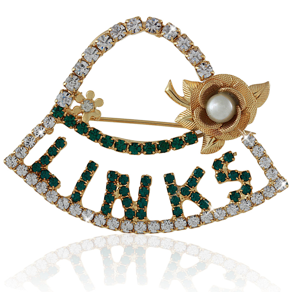 LINKS Swarovski® Gold Hat Pin