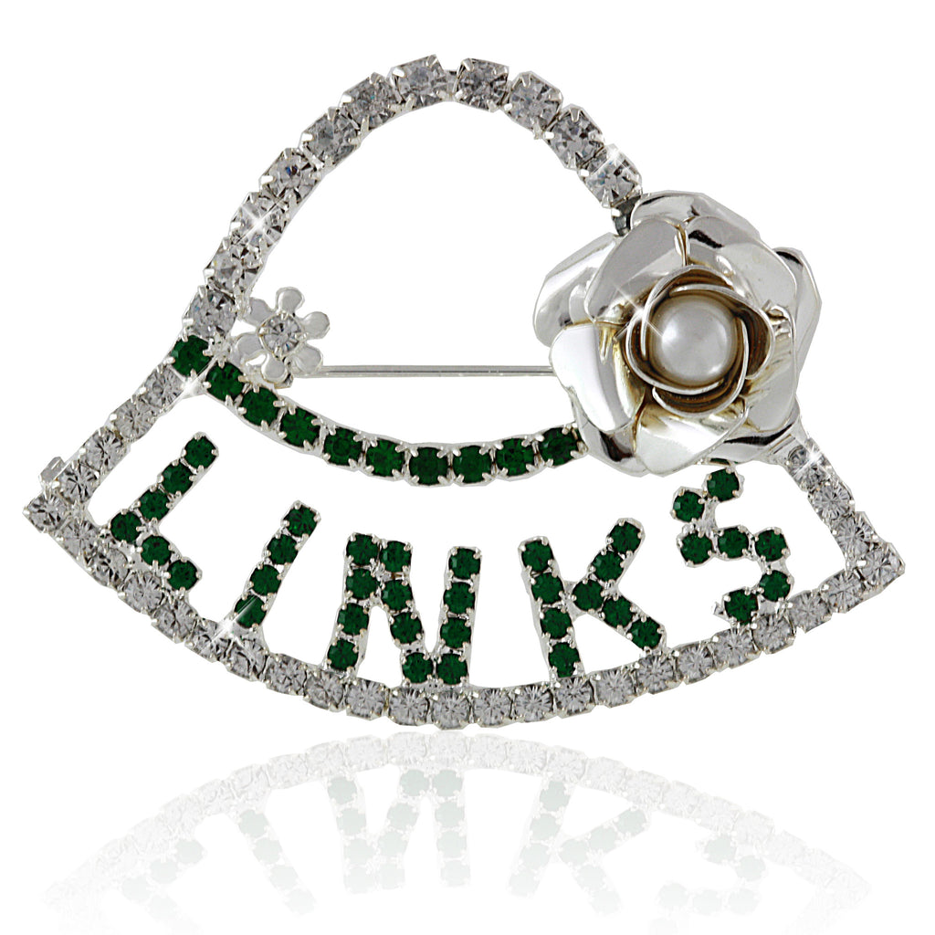LINKS Swarovski® Silver Hat Pin