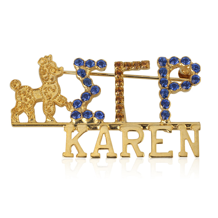 Sigma Gamma Rho Swarovski® Custom Name Pin
