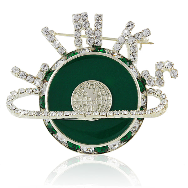 LINKS Magnificent Emerald and Silver Pin