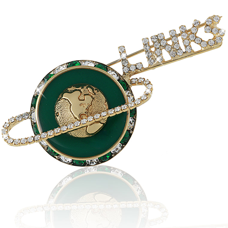 LINKS Crystal Floating Gold and Green Pin (Limited Edition)