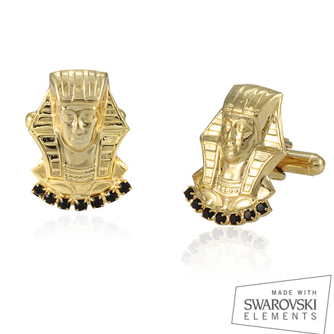 "Alpha Phi Alpha Swarovski® Commemorative Gold ""King's"" Cufflinks"