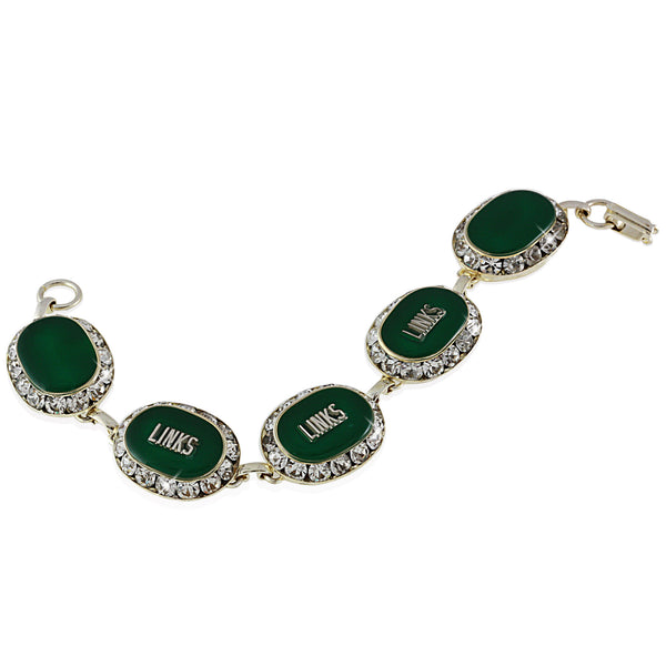 LINKS Swarovski® Emerald Silver Crystal Bracelet
