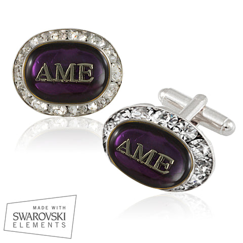 "AME ""Royal Purple"" Swarovski®  Cufflinks"