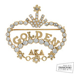AKA Swarovski® Golden Soror Pearls Pin