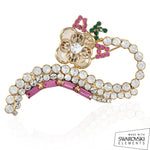 AKA Swarovski® Crystals and Swirls Elegance Pin
