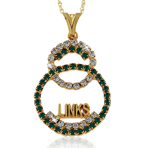 LINKS Unity Gold Crystal Necklace