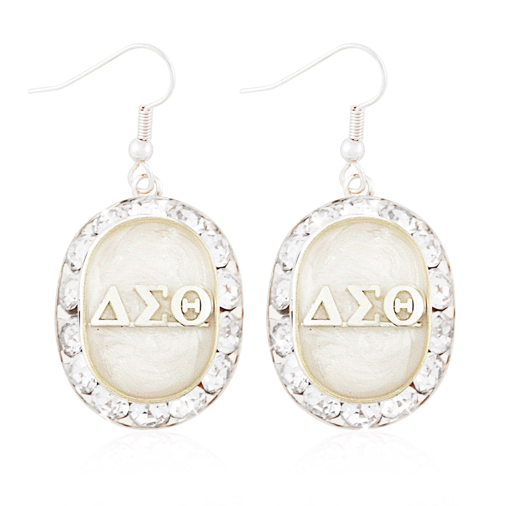 "DST Swarovski® ""Opulent"" White and Silver Earrings"
