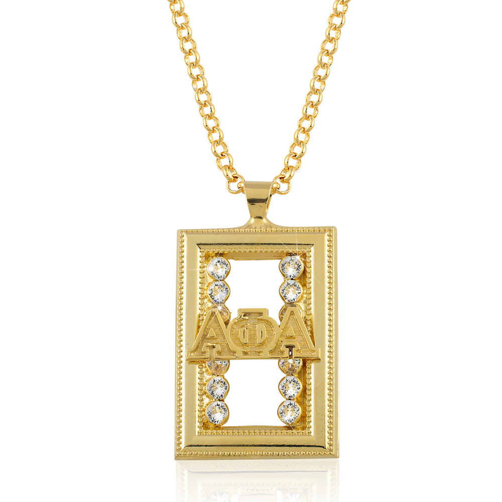 "Alpha Phi Alpha Swarovski® ""Alpha Man"" Medallion in Gold"