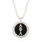 "Alpha Phi Alpha Swarovski® ""The One"" Medallion in Silver"