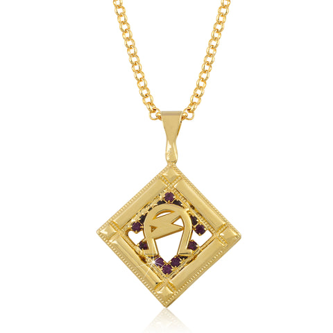 "Omega Psi Phi Swarovski® Crystal Gold ""The Man"" Medallion"
