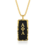 "Alpha Phi Alpha Swarovski® ""The Gentleman"" Medallion in Gold"