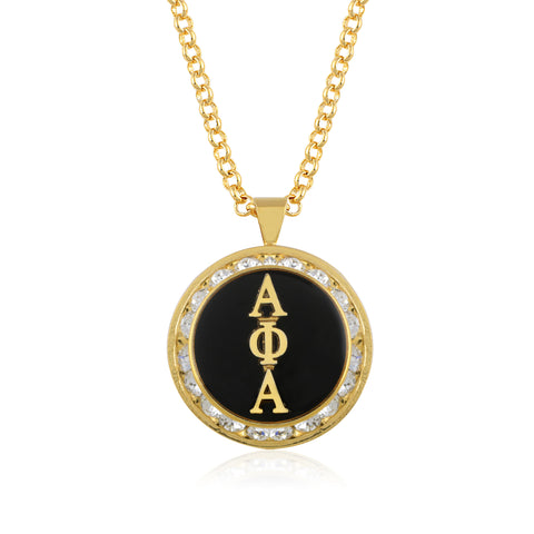 "Alpha Phi Alpha Swarovski® ""The One"" Medallion in Gold"