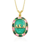 "AKA Swarovski® ""Glittering"" Gold Necklace w/ Green interior *Limited Edition*"