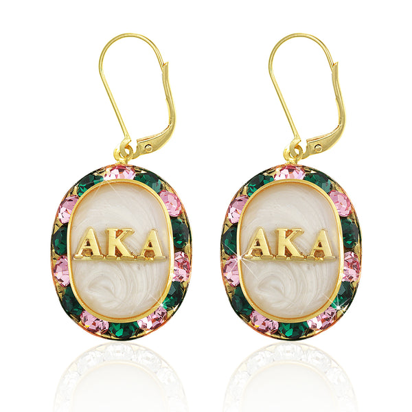 "AKA Swarovski® ""Glittering"" Gold Earrings w/ White interior *Limited Edition*"