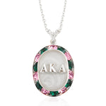 "AKA Swarovski® ""Glittering"" Silver Necklace w/ White *Limited Edition*"