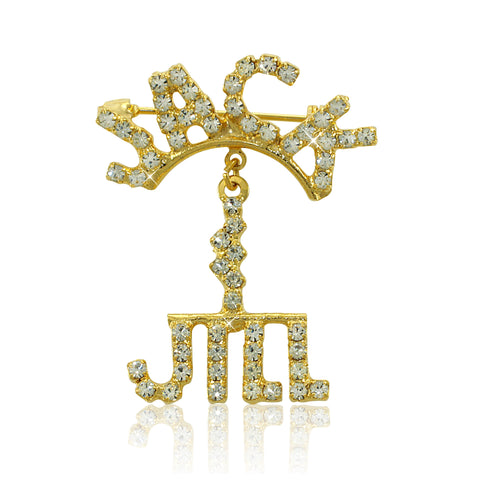 "Jack and Jill Swarovski® ""Model Elegance and Grace"" Crystal Pin"