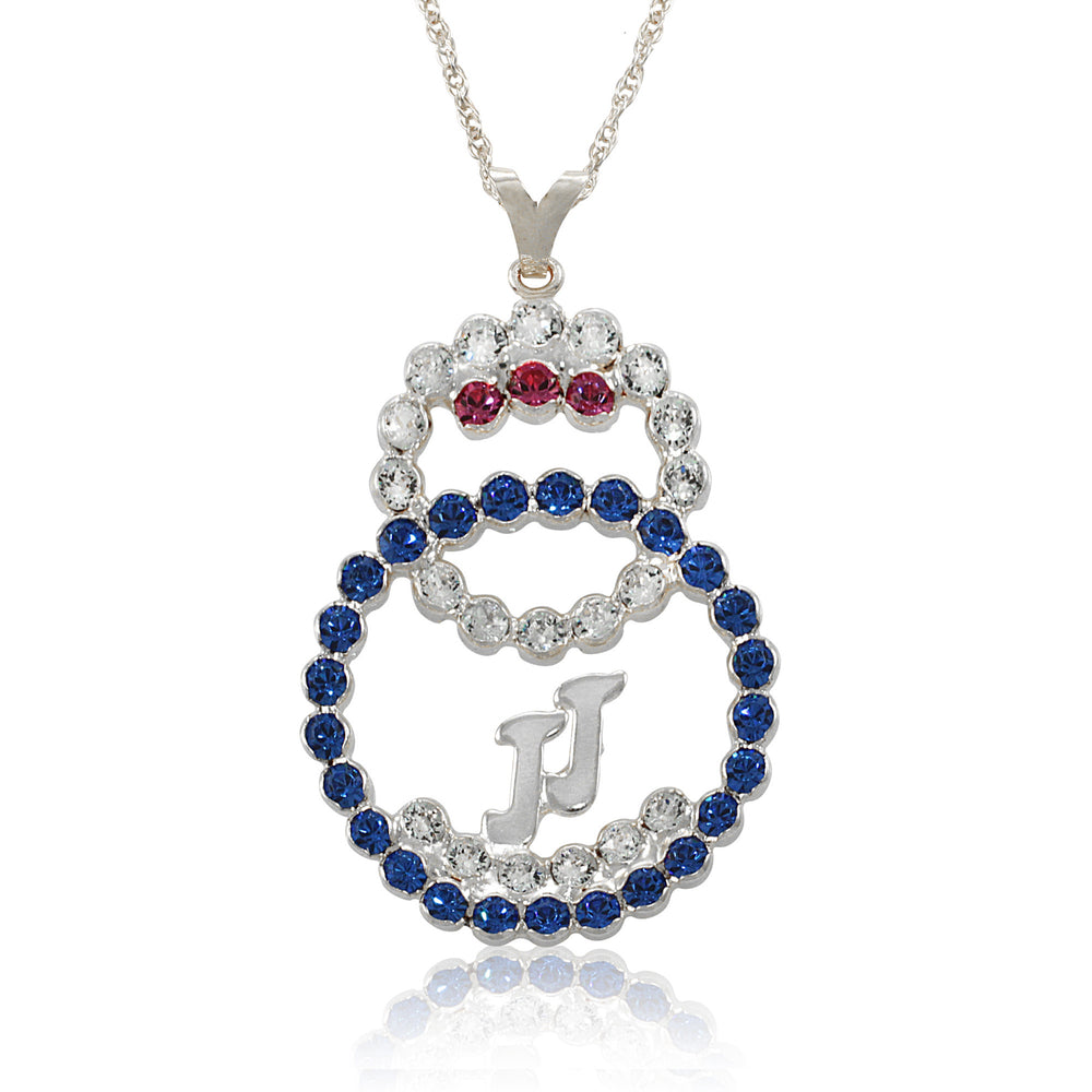 "Jack and Jill Swarovski® ""Harmony and Unity"" Crystal Silver Necklace"