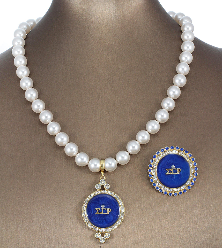 Sigma Gamma Rho Swarovski® Custom Pin and Pendant Gift Set *Limited Edition*
