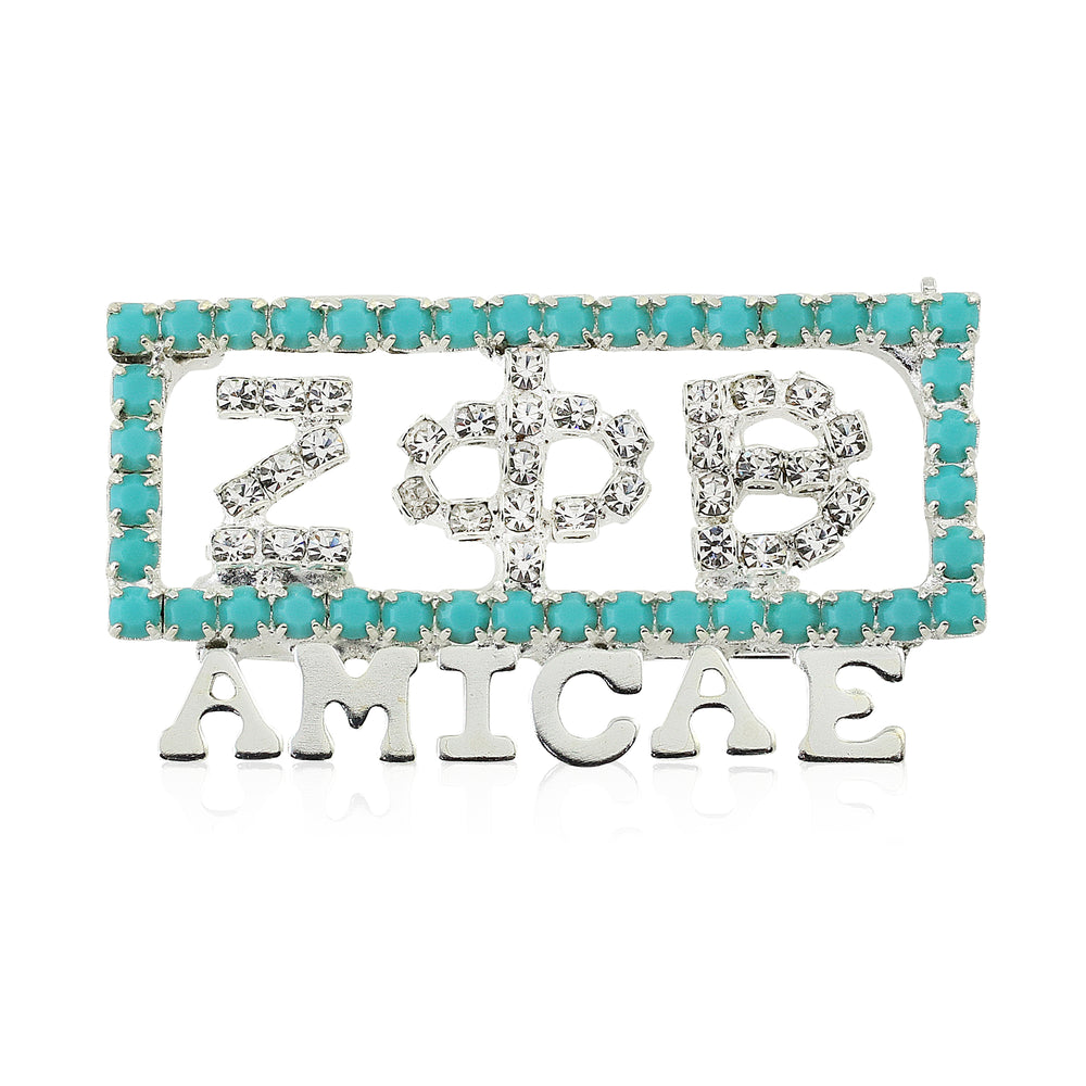 "Limited Edition Zeta Crystal ""Amicae"" Pin"