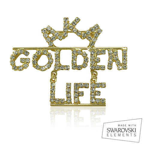 "AKA Swarovski® Golden Life ""Distinguished"" Pin"