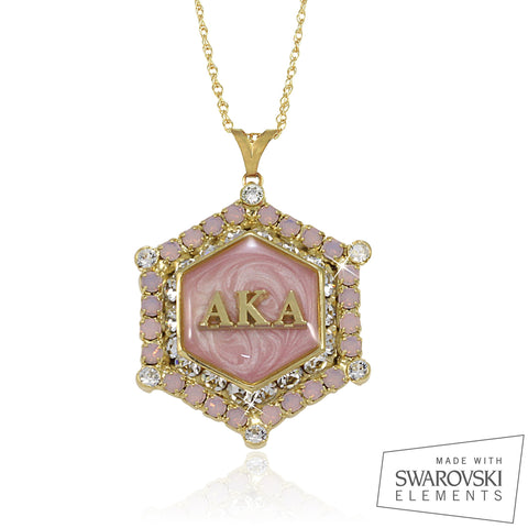 "AKA Swarovski® ""Decadence"" Gold Marbella Limited Edition Necklace"