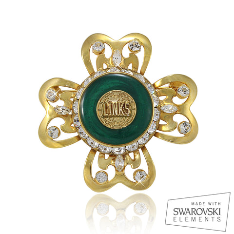 "LINKS Swarovski® ""Effervescent"" Crystallized Pin"