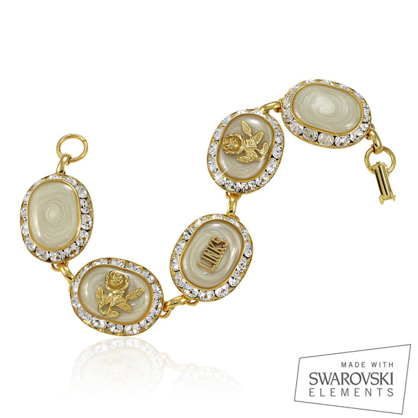 "LINKS Swarovski® Cream & Gold ""Magnifique"" Bracelet"
