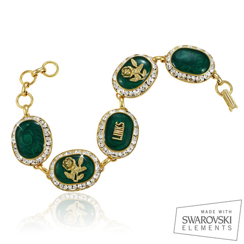 "LINKS Swarovski® Emerald Gold ""Magnifique"" Bracelet"