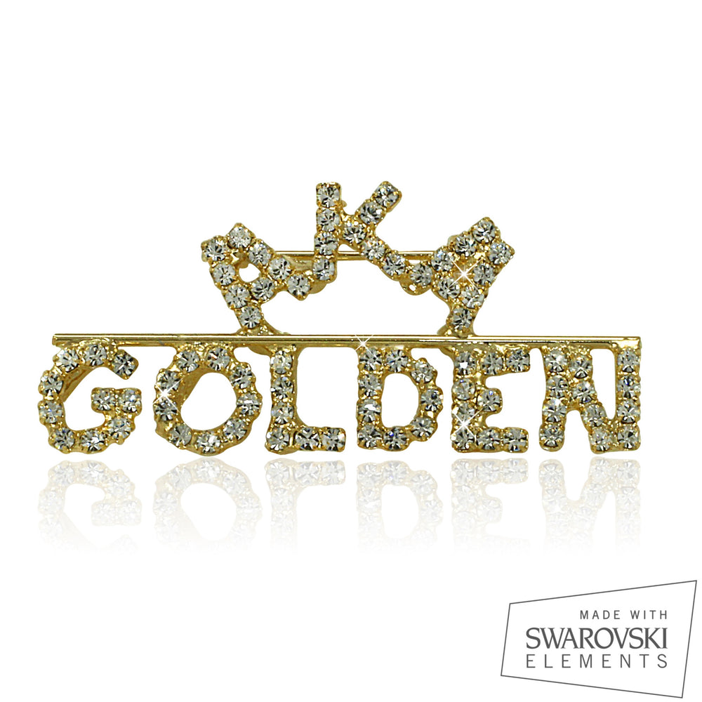 "AKA Swarovski® Golden Soror ""Grand"" Pin"